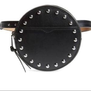 Rebecca Minkoff Genuine Leather belt Bag in BLACK